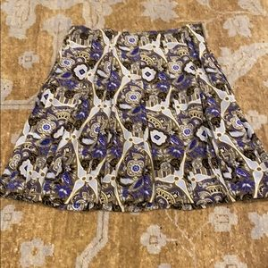 Vintage Prada silk pleated skirt